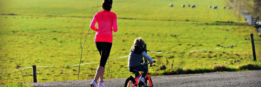 Exercising with a child